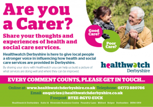 Healthwatch Derbyshire - Are You A Carer