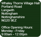 Image - Office address, opening & closing times